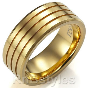 collection of men gold wedding rings